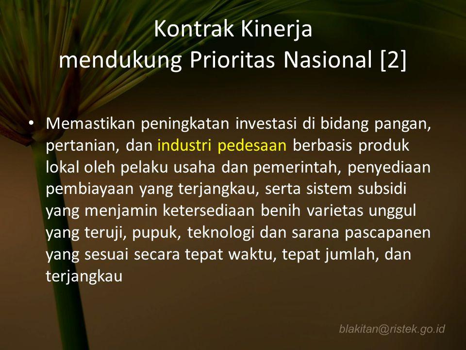Kontrak Kinerja mendukung Prioritas Nasional [2]